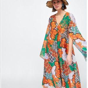 NWT Zara Retro Print Dress